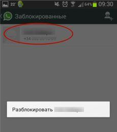 Як заблокувати контакт в WhatsApp